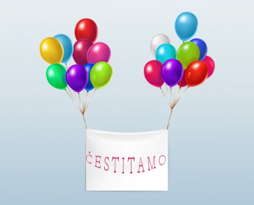 blank-textile-banner-flying-with-colorful-glossy-balloons_1441-1605